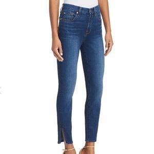 """Aubrey"" side-slit ankle skinny jeans - b(air)"